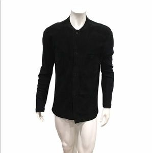 Bally Mens Black Suede Patch Sweater